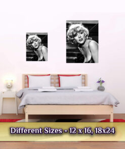 Marilyn Monroe poster medium large sizes compared