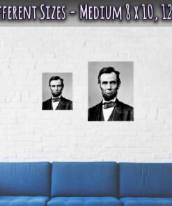 Abraham Lincoln Poster 16th President Medium Sizes 8 x 10 and 12 x 16 Inches