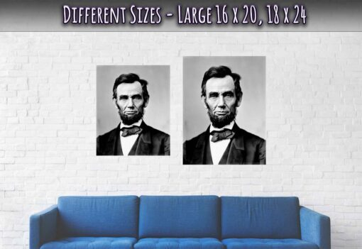Abraham Lincoln Poster 16th President Large Sizes 16 x 20 and 18 x 24 Inches