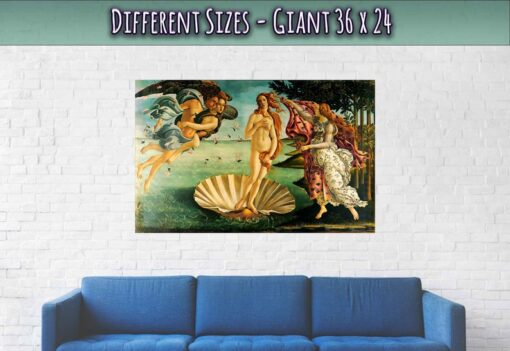 Birth Of Venus Poster Giant Size 36 x 24 Inches