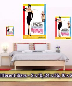 Breakfast At Tiffany'S Poster Medium Large Giant Sizes Compared