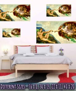 Creation Of Adam Poster Medium Large Giant Sizes Compared