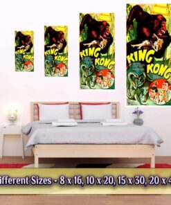 King Kong Poster Medium Large Giant Sizes Compared