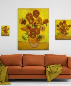 Sunflowers Canvas Print Medium Large Giant Sizes Compared