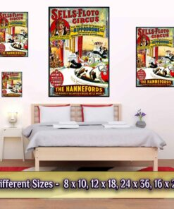 Vintage Circus Poster Sells Floto Medium Large Giant Sizes Compared