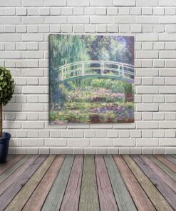 Water Lily Pond Canvas Print Super Size 18 x 18 Inches