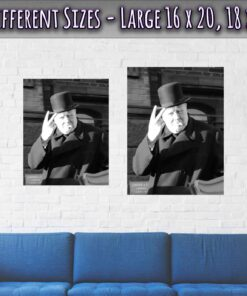 03-Winston-Churchill-Poster-V-Sign-Large-Sizes-16x20-18x24-Inches